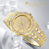 2019 Luxury Design Quartz Diamond Watch For Men Iced Out Gold 4 Watches