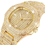 2019 Luxury Design Quartz Diamond Watch For Men Iced Out Gold 1 5 Watches