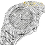 2019 Luxury Design Quartz Diamond Watch For Men Iced Out Silver 1 10 Watches