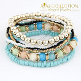 Multi-Layer Beads Bracelet/ Avas Collection Charm Bracelets