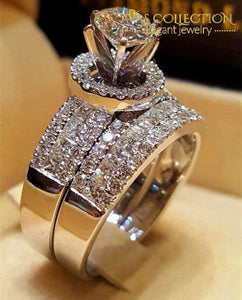 Luxury Big Queen Ring Set Engagement Rings