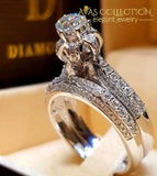 Luxury Vintage Bridal Wedding Ring 10 Engagement Rings