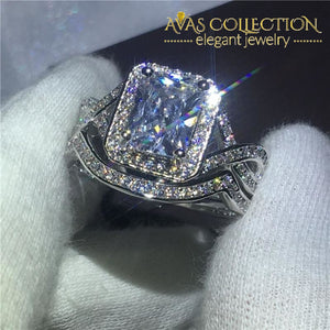 Princess cut 3ct 2 in 1 Wedding Ring Set - Avas Collection