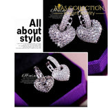 Luxury Heart Earrings - Avas Collection