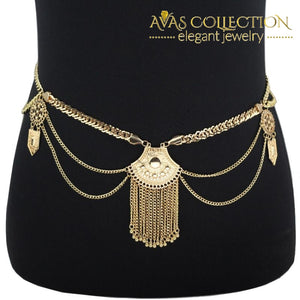 Boho Belt Tassel Metal Belly Chain - Avas Collection