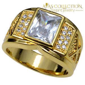 Men Gold Filled Ring Size 8-15 - Avas Collection