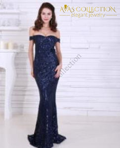 Gold/Black/White/ Dark Blue Sexy Long Party dress sequin maxi dress - Avas Collection