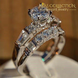 2Pcs/lot Engagement Ring/ Wedding Ring Set 10 Rings