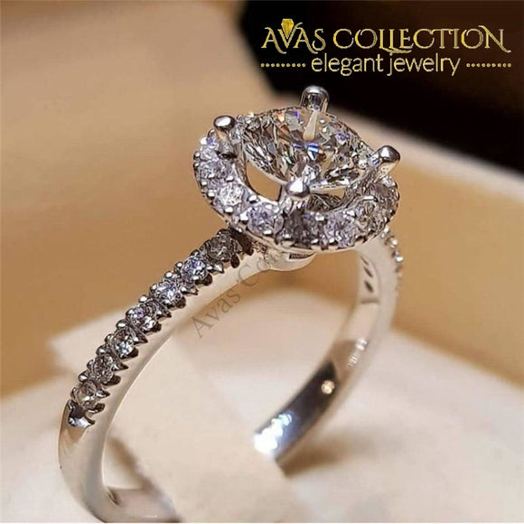 Luxury Round Engagement Ring/ Promise Ring -5300 Rings