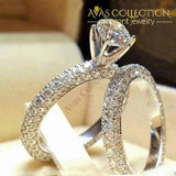 Wedding Ring Set 15158 Simulated Diamonds 10 Engagement Rings