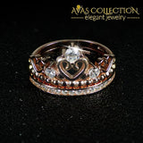 Crown Ring set for Women Rose Gold Filled - Avas Collection
