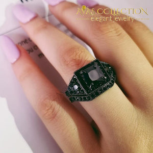 10K Black Gold Filled Wedding Ring - R4622 Rings