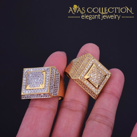 Bling Iced Out Mens Ring Rings