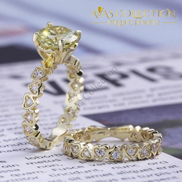 New Arrival 14K Yellow Gold Filled Lovers Ring Ser Engagement Rings