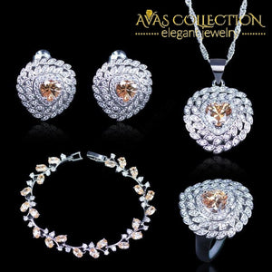Champagne Jewelry Set - Avas Collection