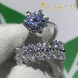 New Round Shape Simulated Diamonds Wedding Bridal Ring For Women 5 / Set Rings