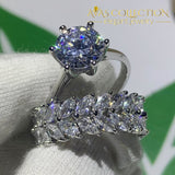New Round Shape Simulated Diamonds Wedding Bridal Ring For Women Rings