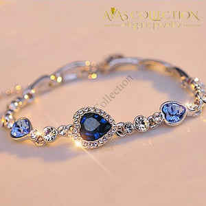 Crystal Heart Bracelet/ Avas Collection Charm Bracelets