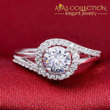 925 Sterling Silver Womens Ring Simulated Diamonds/ Cocktail Engagement Rings