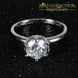 New Arrival Solid 925 Sterling Silver Solitaire Ring Rings