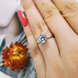 New Arrival Solid 925 Sterling Silver Solitaire Ring 5 Rings