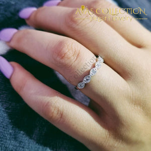Solid  925 Sterling Silver Band Eternity Ring - Avas Collection