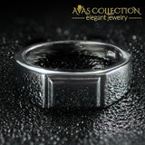 Solid 925 Sterling Silver Males Wedding Band Rings