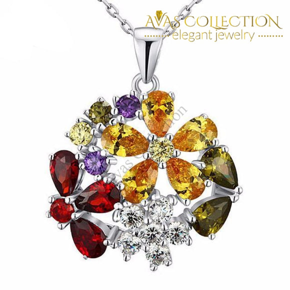 3.5 Carat Flower Necklace Pendants
