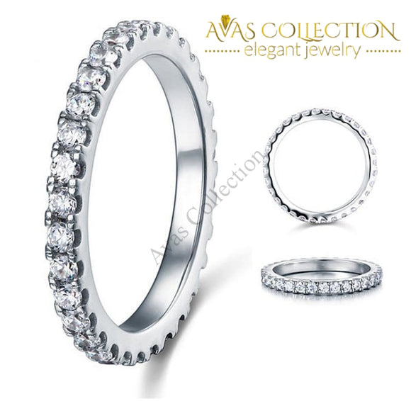 Luxury Quality  Sona Diamonds Eternity Band - Avas Collection