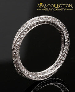 Eternity Ring With A Twist Rings