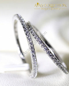 4Mm Eternity Ring 5 / White Rings