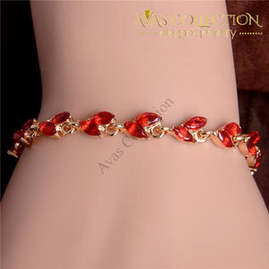 Shuangr Gold Color Womens Shiny Austrian Crystal Fashion Jewelry Perfect Bracelet Wholesale Chain &