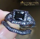 2ct Luxury Princess Cut 10kt Black Gold Filled - Avas Collection