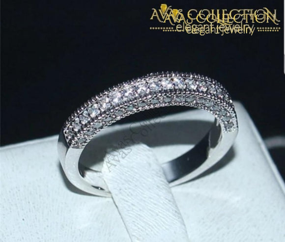 14K White Gold Filled Band