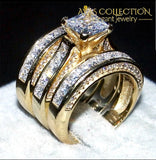 3-In-1 14Kt Yellow Gold Filled Rings