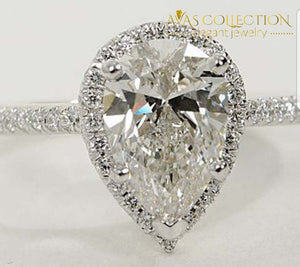 3CT Pear Cut Shape - Avas Collection