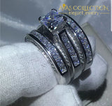Princess Cut 3 In 1 Ring Set Rings
