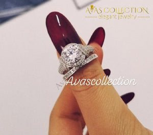 Vintage Style 2 Ct Engagement Ring - Avas Collection