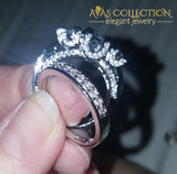 Three-Stone Square Engagement Set - Avas Collection