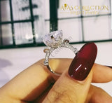 4Ct Flower Crown Ring Design Rings