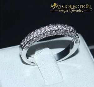 14K White Gold Filled Eternity Band