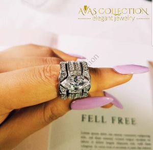 3-In-1 Marquise Cut Rings
