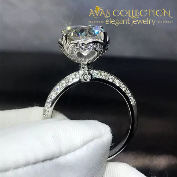 Crown 3Ct Elegant Ring Engagement Rings