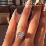 4 Carat Sterling Silver 925 Luxury Engagement Ring Rings