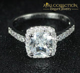 New Arrival Solid 925 Sterling Silver Ring / Simulated Diamonds Engagement Rings