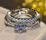 3 In 1 Wedding Set Rings