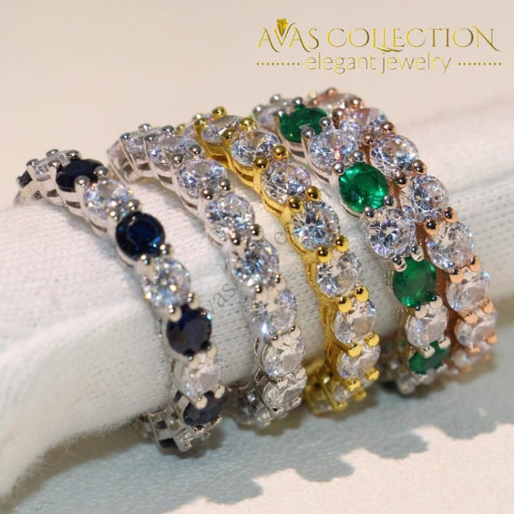 Multi Color Eternity Ring - Avas Collection