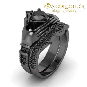 Couples Ring- Black Gold Filled Rings