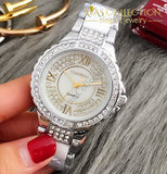 Rhinestone Simulated-Ceramics Crystal Quartz Watch Womens Watches