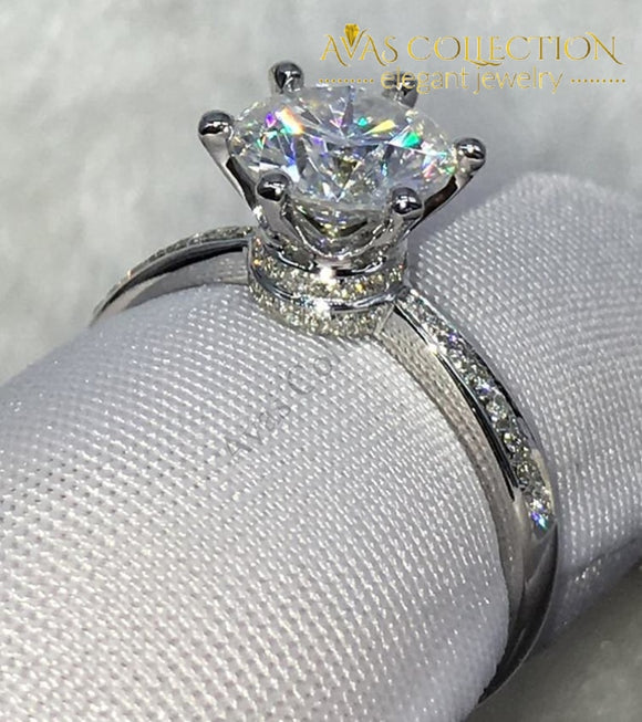 Crown 2ct Engagement Ring - Avas Collection
